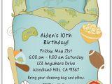 Boys Slumber Party Invitations Slumber Party Sleepover Birthday Invitations Boy Slumber