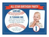 Boys Sports Birthday Invitations Boys Baseball Sports 1st Birthday Party Invitation