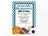 Boys Sports Birthday Invitations Sports Birthday Invitation Boys Sports Party by 505 by