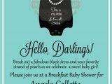 Breakfast at Tiffany S Baby Shower Invites Breakfast at Tiffany S Baby Shower Invitation by Paperandpomp