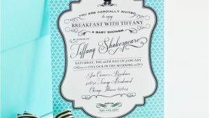 Breakfast at Tiffany S Baby Shower Invites Breakfast at Tiffany S Inspired Printable Invitation