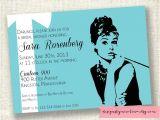 Breakfast at Tiffany S Bridal Shower Invitations Template Audrey Hepburn Breakfast at Tiffanys Printable Invitations