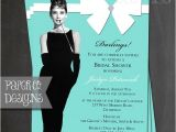 Breakfast at Tiffany S Bridal Shower Invitations Template Breakfast at Tiffany S Bridal Shower Invitation Birthday