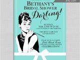 Breakfast at Tiffany S Bridal Shower Invitations Template Breakfast at Tiffany S Bridal Shower Invitations