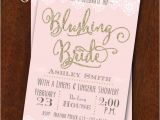Bridal Shower and Bachelorette Party Invitations Bridal Shower Invitation Blushing Bride Lingerie Shower