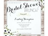 Bridal Shower Brunch Invitation Template Rustic Flowers Bridal Shower Brunch Invitation Zazzle
