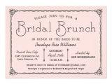 Bridal Shower Brunch Invitation Wording Vintage Bridal Brunch Bridal Shower Invitations