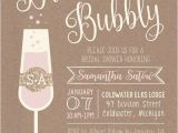 Bridal Shower Brunch Invites 5 X 7 Printable Rustic Brunch & Bubbly Bridal Shower