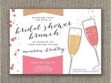 Bridal Shower Brunch Invites Bridal Shower Brunch Invitation Digital File