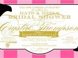 Bridal Shower Hat Invitations Bridal Shower Invitations Bridal Shower Invitations Hat theme