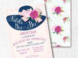 Bridal Shower Hat Invitations Fiddle Dee Dee Big Hat Bridal Shower Invitation by