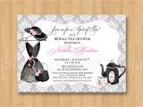 Bridal Shower Hat Invitations Tea Fancy Hat Dress Birthday Bridal Shower Personalized
