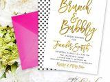 Bridal Shower Invitation Fonts Brunch and Bubbly Bridal Shower Invitation Script