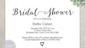 Bridal Shower Invitation Fonts Printable Bridal Shower Invitation Instant by Gracedesignsdiy