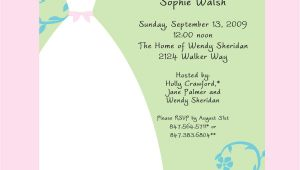 Bridal Shower Invitation format Bridal Shower Bridal Shower Invitation Wording Card