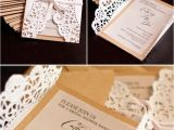 Bridal Shower Invitation Ideas Homemade Diy Lace Invitations Wedding Diy Pinterest