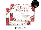 Bridal Shower Invitation Inserts Bridal Shower Insert Card Christmas Custom Invitation