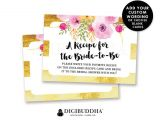 Bridal Shower Invitation Inserts Bridal Shower Insert Card Custom Invitation Enclosure