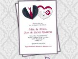 Bridal Shower Invitation Kits Hearts Couple Shower Invitation