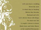 Bridal Shower Invitation Poem Invite Poems