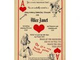 Bridal Shower Invitations Alice In Wonderland theme Alice In Wonderland Bridal Shower Invitation