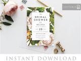 Bridal Shower Invitations Australia Bridal Shower Invitation Instant Download Bridal Shower