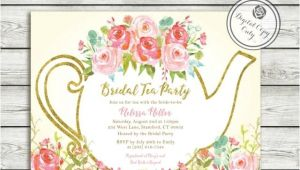 Bridal Shower Invitations Garden Party theme Garden Tea Party Bridal Shower Invitation High Tea