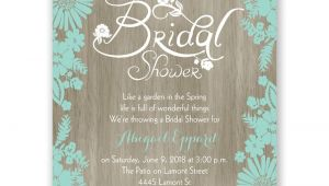 Bridal Shower Invitations Images Flowers and Woodgrain Petite Bridal Shower Invitation