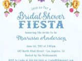 Bridal Shower Invitations In Spanish Mexican Fiesta theme Spring Summer Floral Bridal Shower