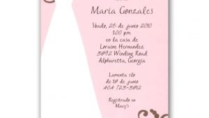 Bridal Shower Invitations In Spanish Spanish Pink Bridal Shower Invitations Paperstyle