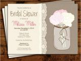 Bridal Shower Invitations Mason Jar theme Bridal Shower Invitation Wedding Shower Invite Bridal