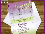 Bridal Shower Invitations Mason Jar theme Bridal Shower Mason Jar themed Printable by Digigraphics4u
