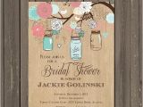 Bridal Shower Invitations Mason Jar theme Mason Jar Invitation Mason Jar Bridal Shower Invitation