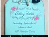 Bridal Shower Invitations Mason Jar theme Mason Jar Invitations and Chalkboard Tags for Weddings or