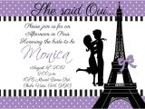 Bridal Shower Invitations Paris theme 4 Ideas to Make Your Wedding as Unique as You are