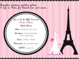 Bridal Shower Invitations Paris theme Cafe In Paris Bridal Shower Invitation Digital File