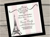 Bridal Shower Invitations Paris theme Items Similar to Paris themed Bridal Shower Invitations On