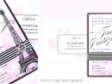 Bridal Shower Invitations Paris theme Paris Party Invitation