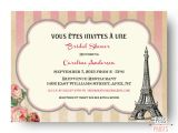 Bridal Shower Invitations Paris theme Paris theme Bridal Shower Invitation Printable Paris Bridal