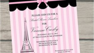Bridal Shower Invitations Paris theme Paris themed Bridal Shower Invitations