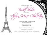 Bridal Shower Invitations Paris theme Paris themed Bridal Shower Invitations Paris themed Bridal