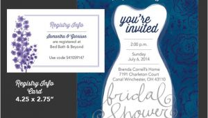 Bridal Shower Invitations Registry Information Bridal Shower Invitation and Registry Info Card by