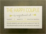 Bridal Shower Invitations Registry Information Registry Cards for Wedding Etiquettes to Follow