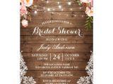 Bridal Shower Invitations Under $1 Rustic String Lights Lace Floral Bridal Shower Card