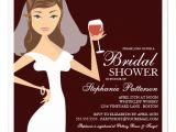 Bridal Shower Invitations Wine theme Modern Bride Wine theme Bridal Shower Invitation 5 25