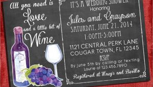 Bridal Shower Invitations Wine theme Printable Wine theme Couples Coed Wedding Shower Invitation I