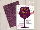 Bridal Shower Invitations Wine theme Wine themed Bridal Shower Invitation Wine themed Invitation