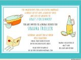 Bridal Shower Invitations with Recipe Cards Wording Kitchen Bridal Shower Invitation Cooking themed Retro