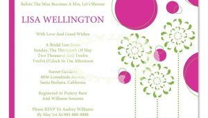 Bridal Shower Invitations Wording Etiquette Bridal Shower Invite Etiquette Template
