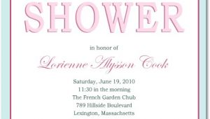Bridal Shower Invite Text Classic but Fashion Text Bridal Shower Invitations Hpb103